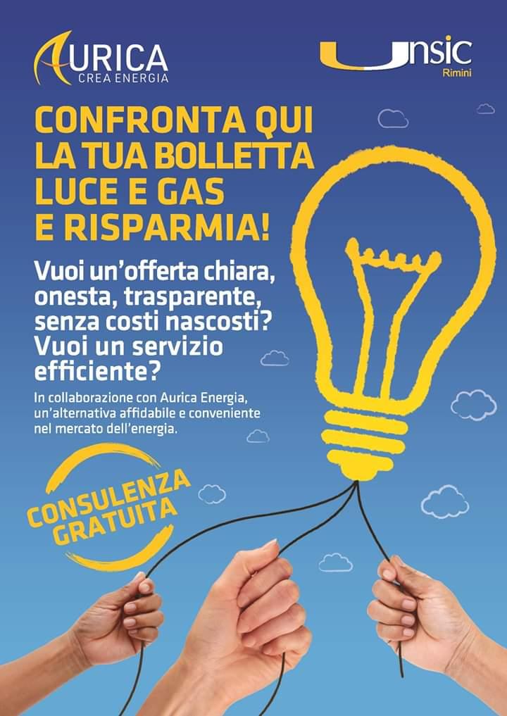 Risparmio Luce Gas Rimini: confronta la tua bolletta al Patronato e CAF UNSIC