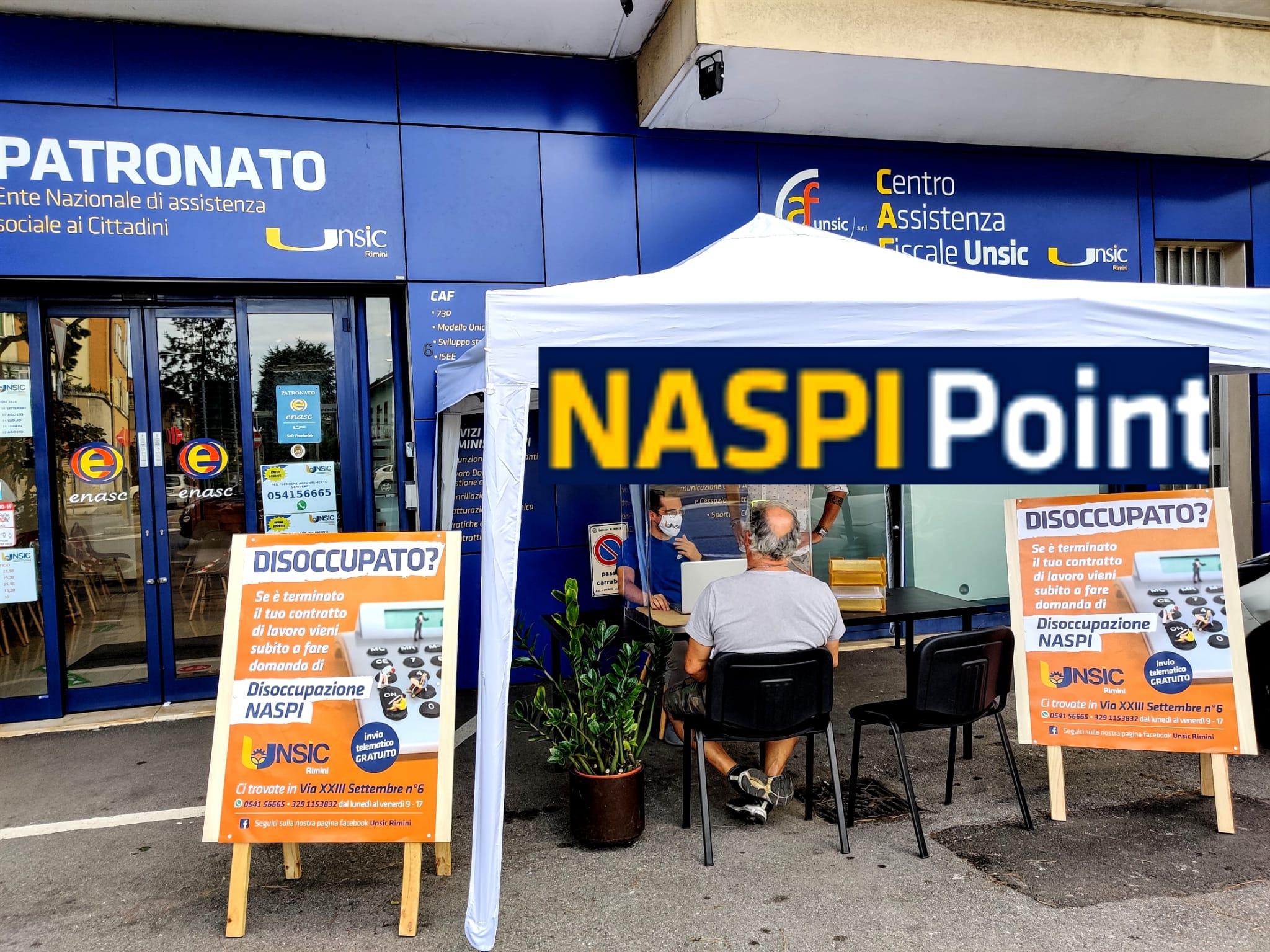 NASPI Point Rimini SENZA APPUNTAMENTO DOMANDA IMMEDIATA VELOCE IN SICUREZZA Patronato CAF UNSIC
